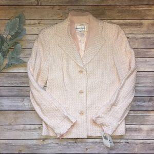 Bloomingdales Pink Shimmery Tweed Blazer